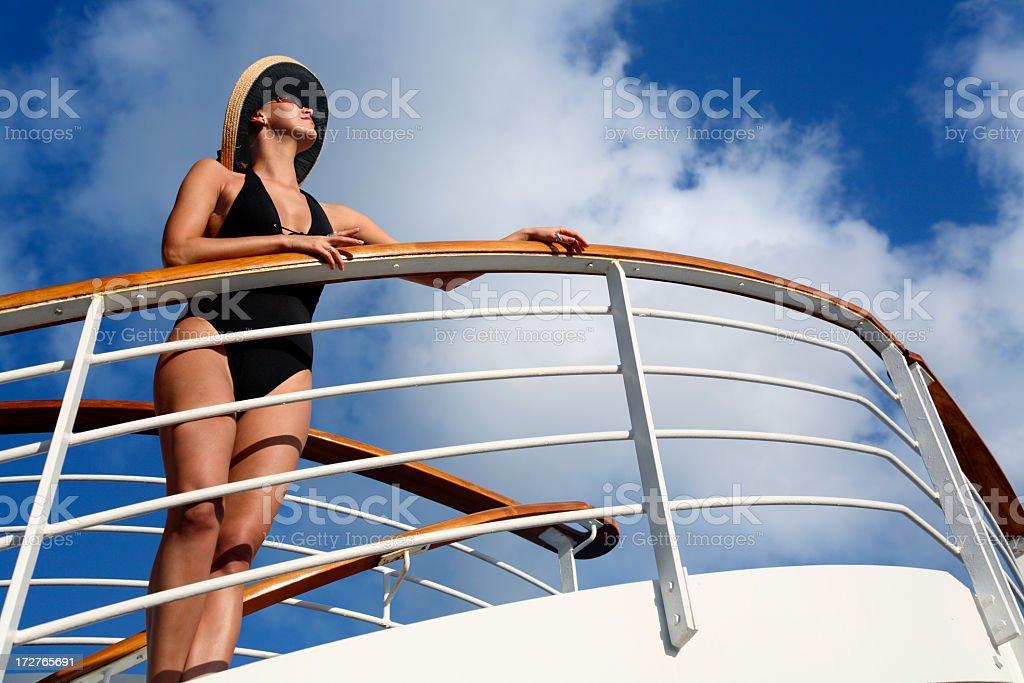 vacation lady royalty-free stock photo