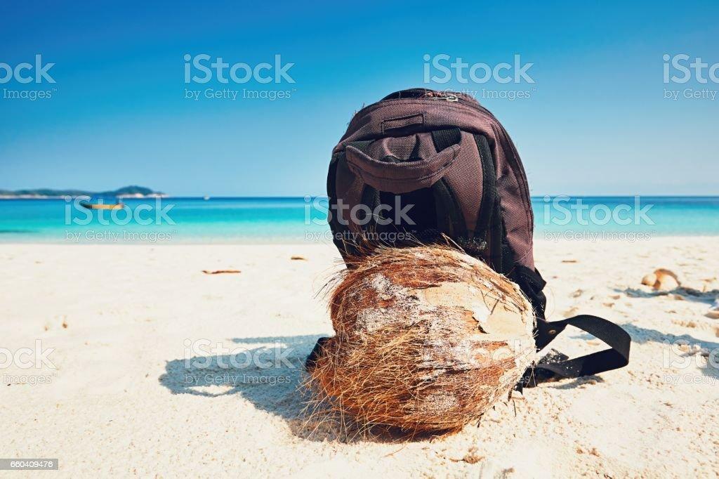 Vacation on the beach stock photo