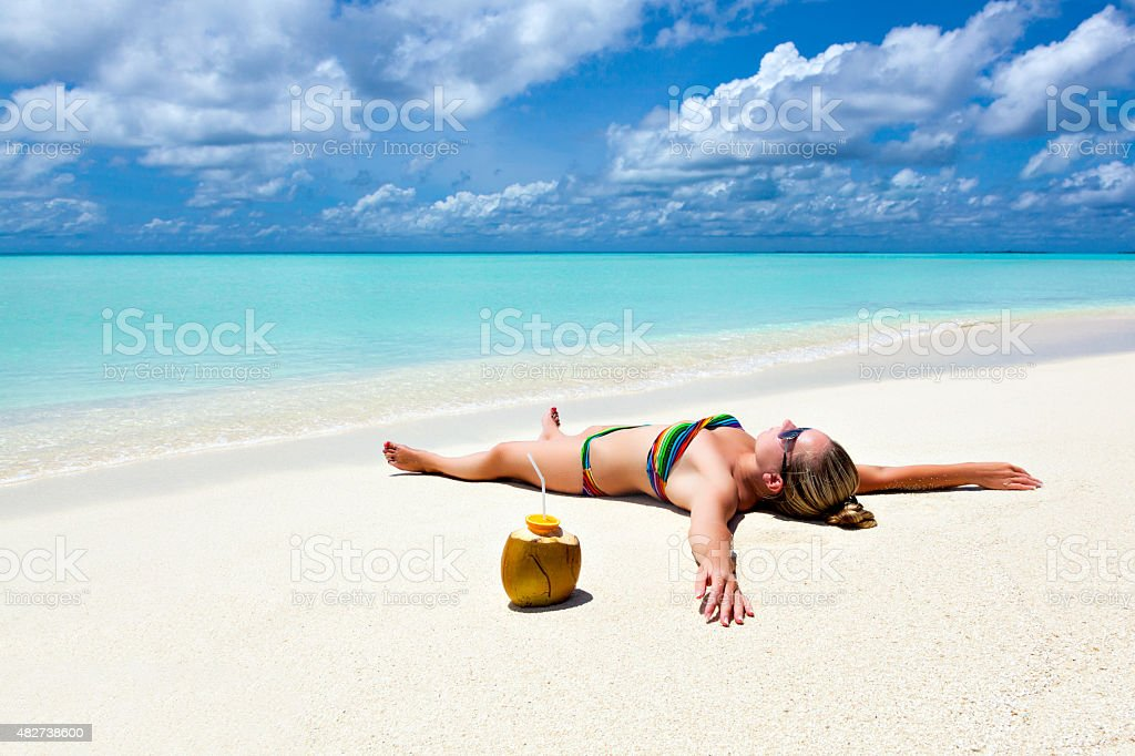 vacation paradise in the Caribbean stock photo