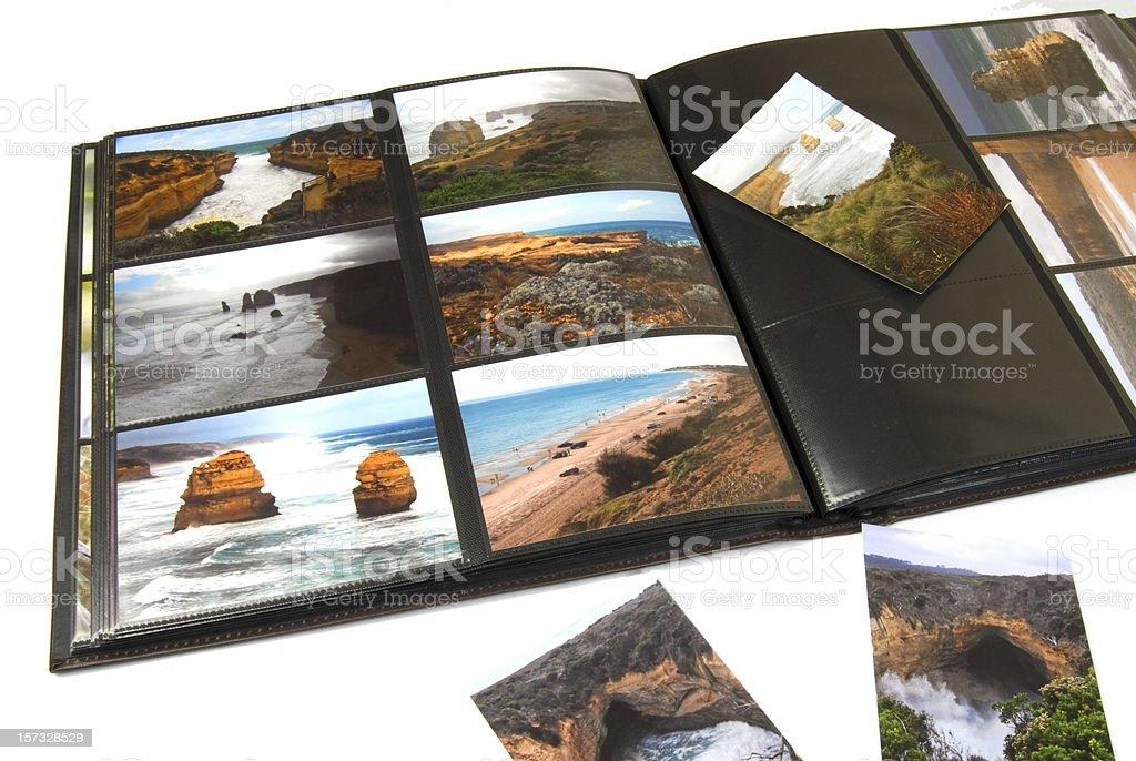 vacation photo album royalty-free stock photo