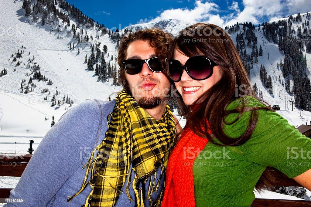 Vacation Portrait at Ski Resort royalty-free stock photo