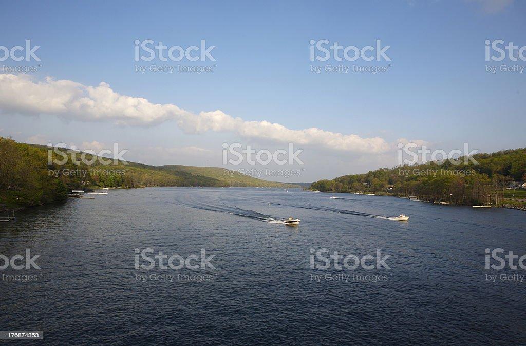 Vacation Resort Lake royalty-free stock photo