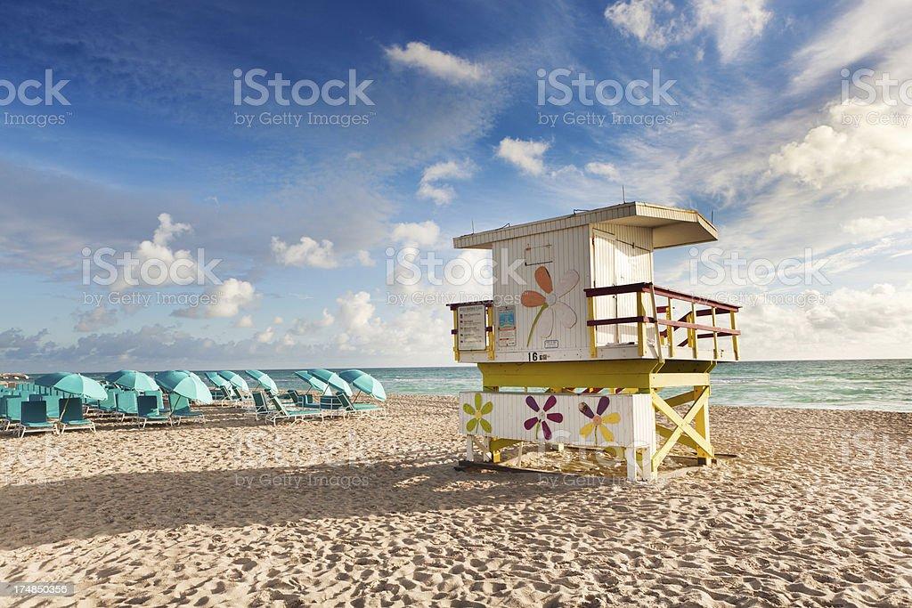 Vacation Resort on South Beach of Miami Florida royalty-free stock photo