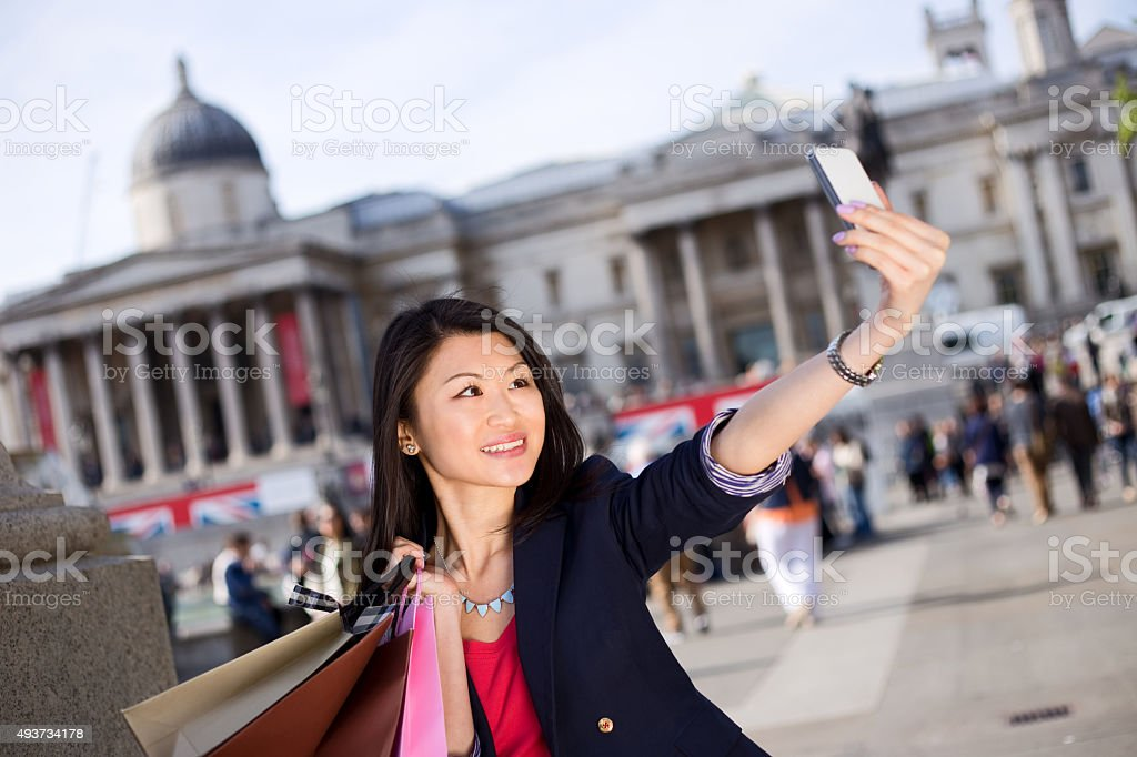 vacation selfie royalty-free stock photo