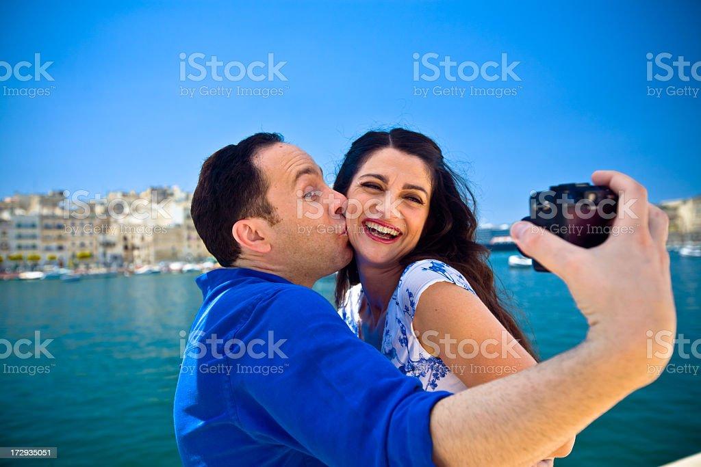 Vacation self-portrait royalty-free stock photo