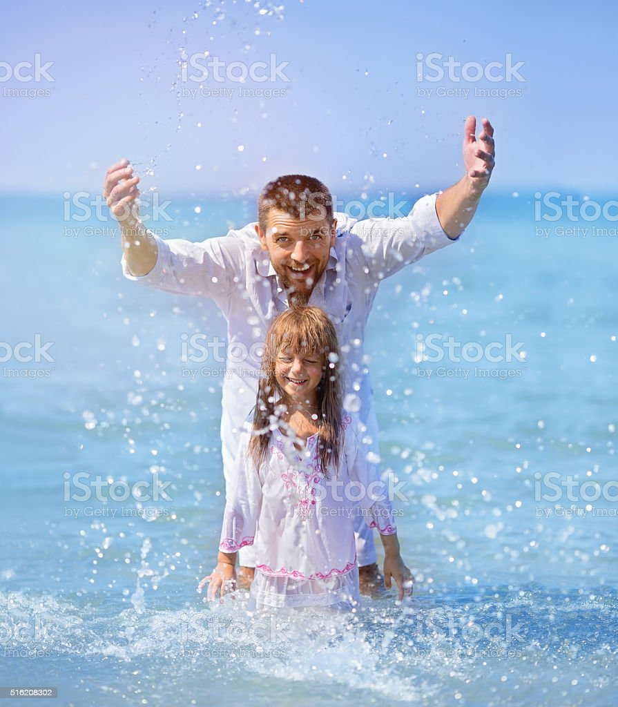 vacation, summer, family concept stock photo