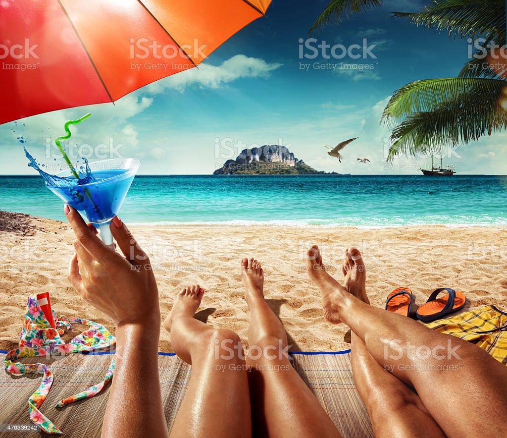 Vacation. Summer tropical beach stock photo