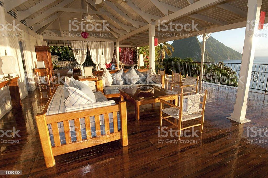 Vacation villa on St. Lucia royalty-free stock photo