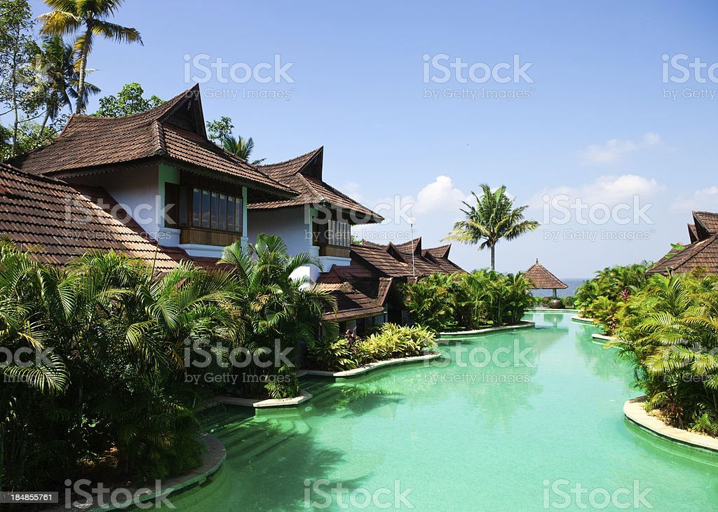 vacation villas royalty-free stock photo