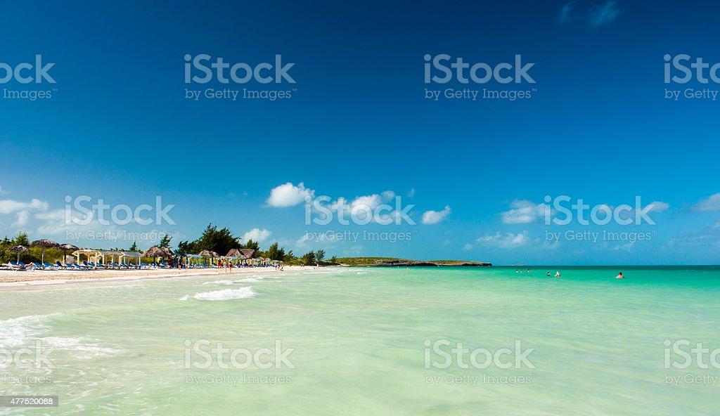 Vacationing on a Caribbean stock photo