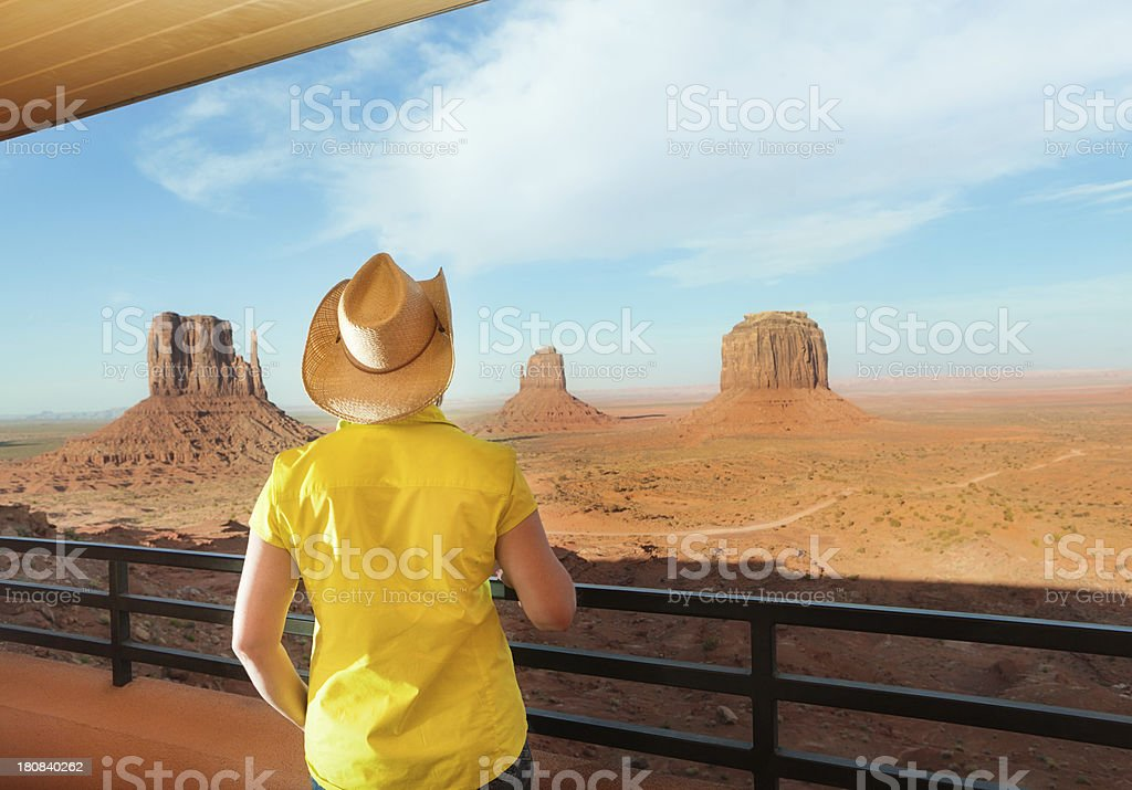 Vacationing Tourist Hotel Resort of American Southwest at Monument Valley royalty-free stock photo