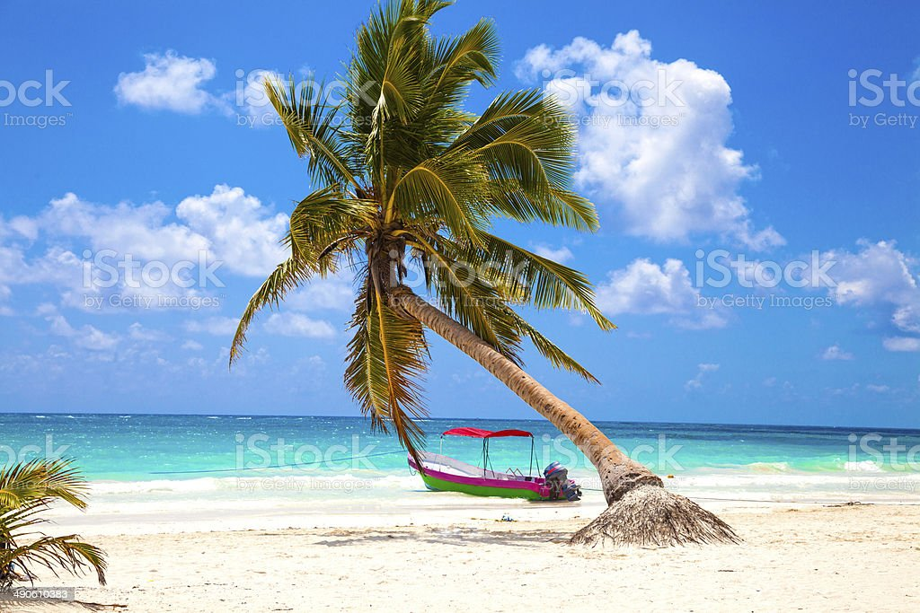 Vacations and tourism concept: Caribbean Paradise. stock photo