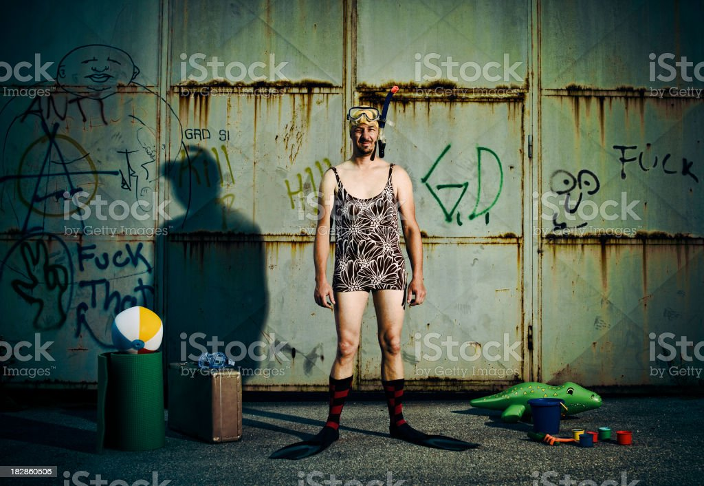 Vacations in the slums royalty-free stock photo