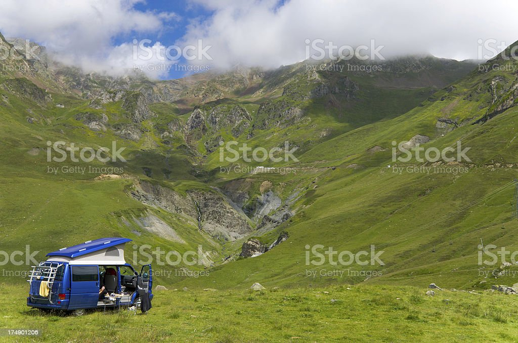 Vacations in the summer Pyrenees royalty-free stock photo