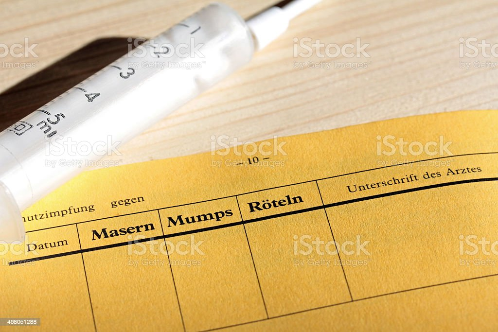 Vaccination against measles stock photo