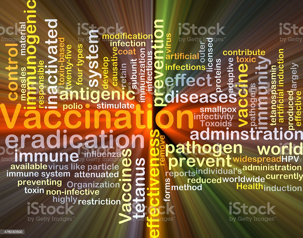 Vaccination background concept glowing stock photo