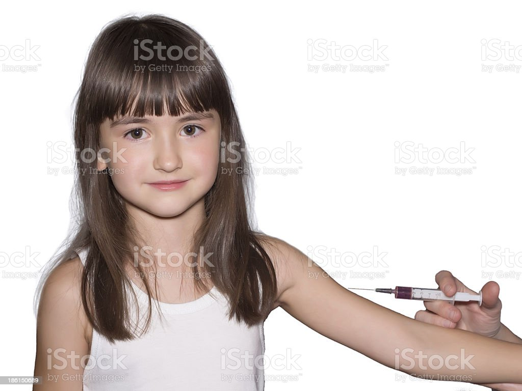 Vaccination of girl royalty-free stock photo