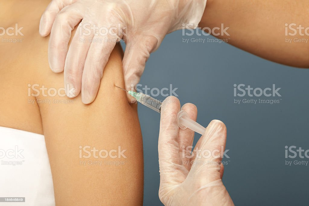Vaccination Protection Influenza royalty-free stock photo