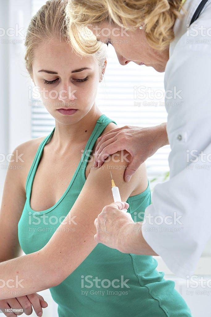 vaccination shot stock photo