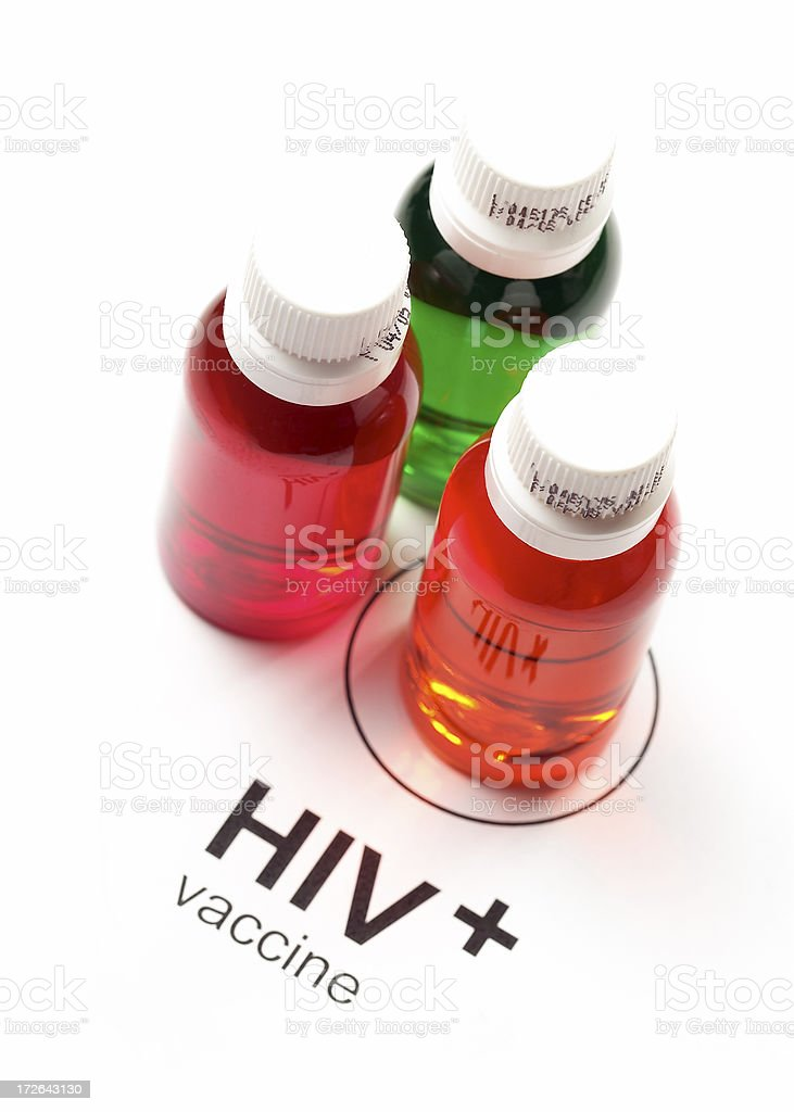HIV Vaccine royalty-free stock photo