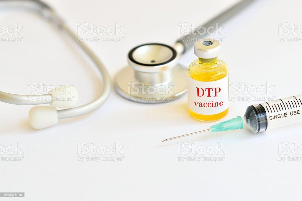 DTP vaccine stock photo