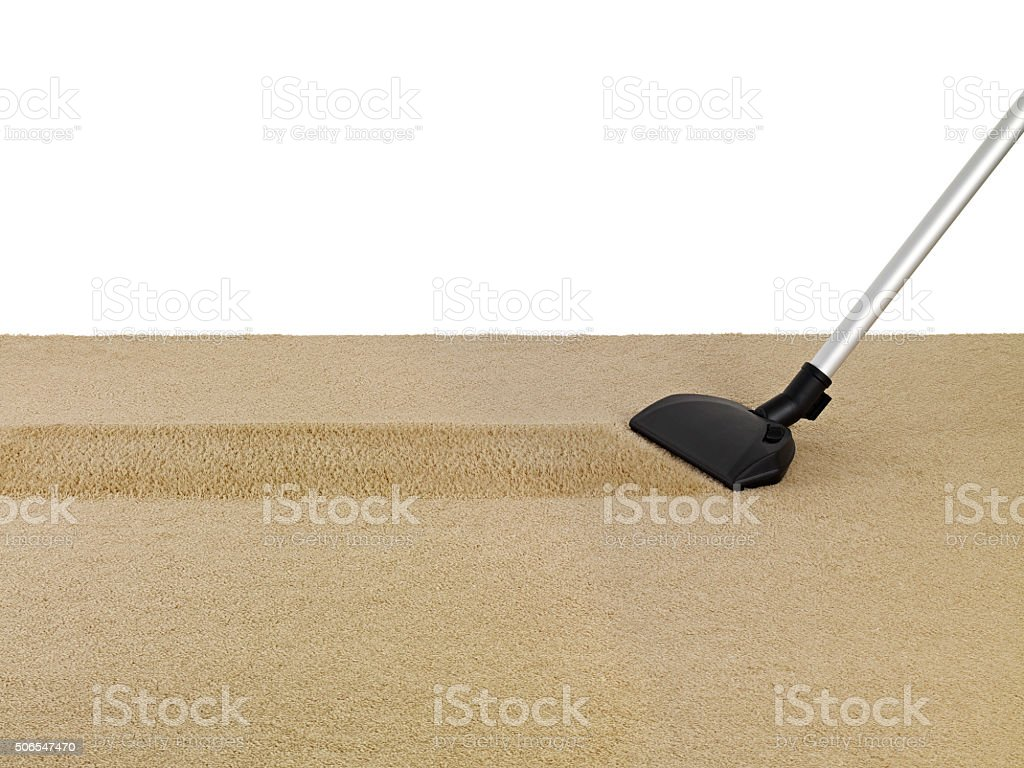 vacum cleaner on carpet stock photo