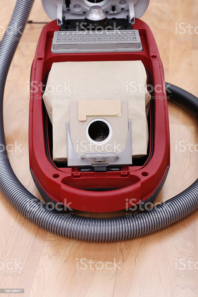 Vacuum cleaner dust bag stock photo