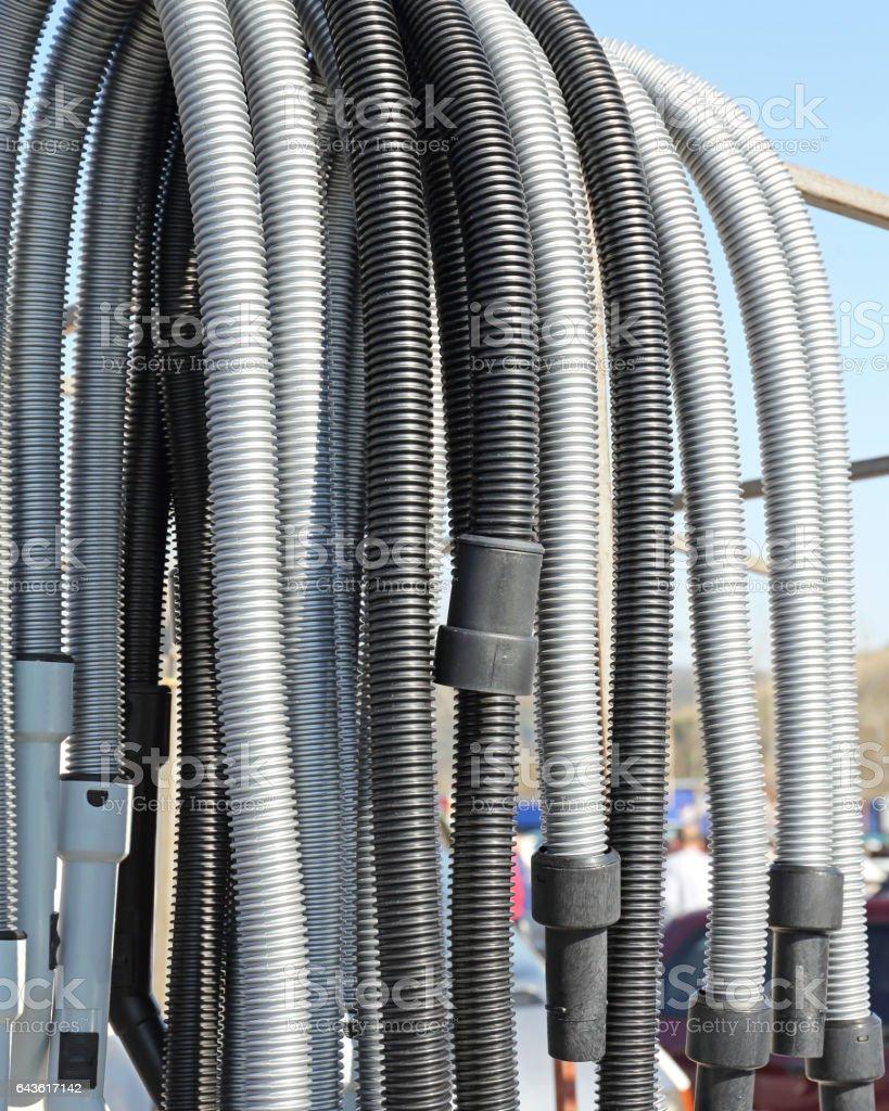 Vacuum Cleaner Hoses stock photo