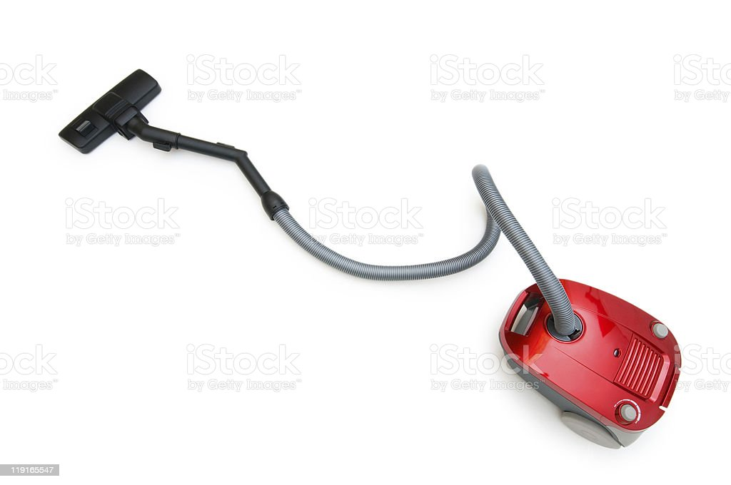 Vacuum cleaner isolated on the white background stock photo