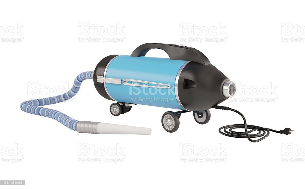 Vacuum cleaner of old type stock photo