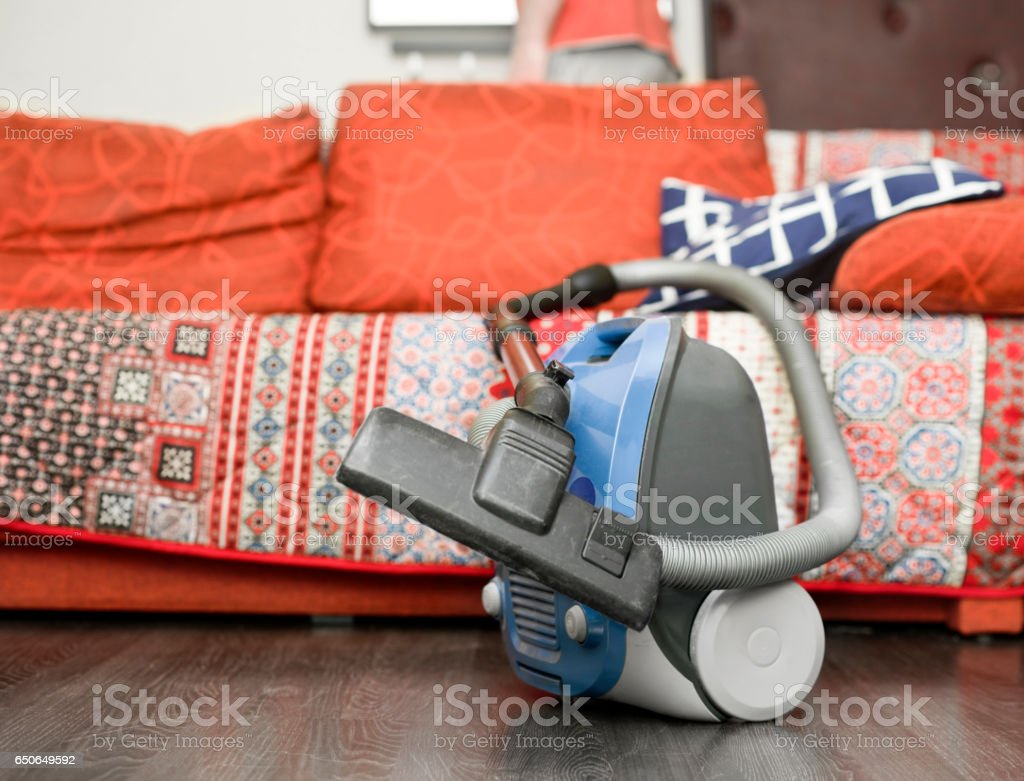 Vacuum Cleaner On A Floor stock photo