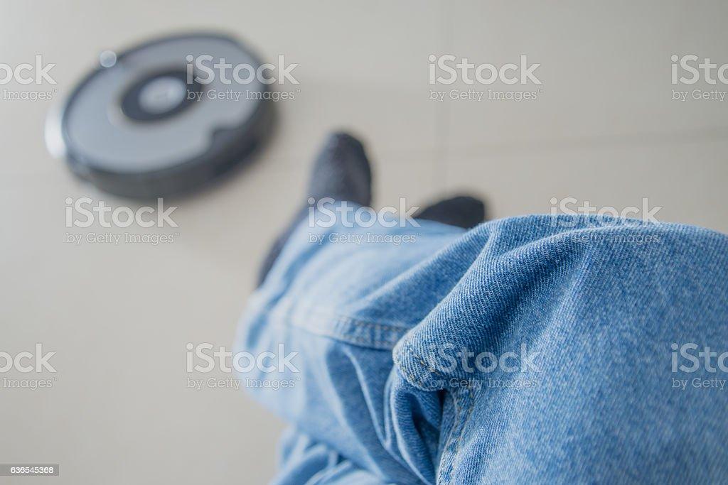 Vacuum Cleaner Robot stock photo