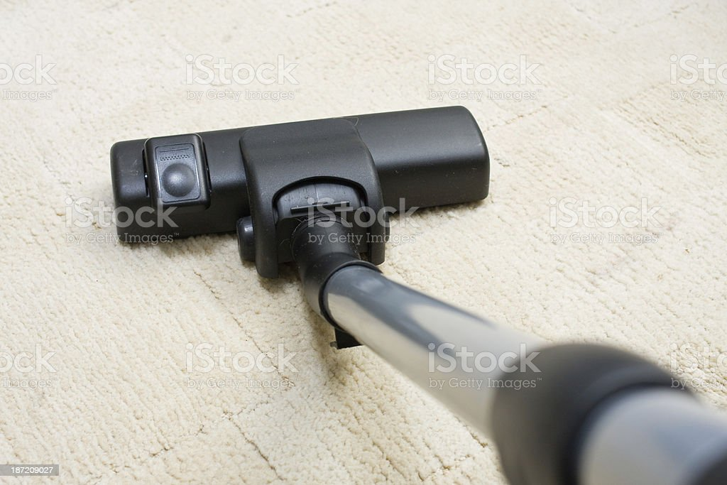 Vacuum cleaner to tidy up the living room royalty-free stock photo