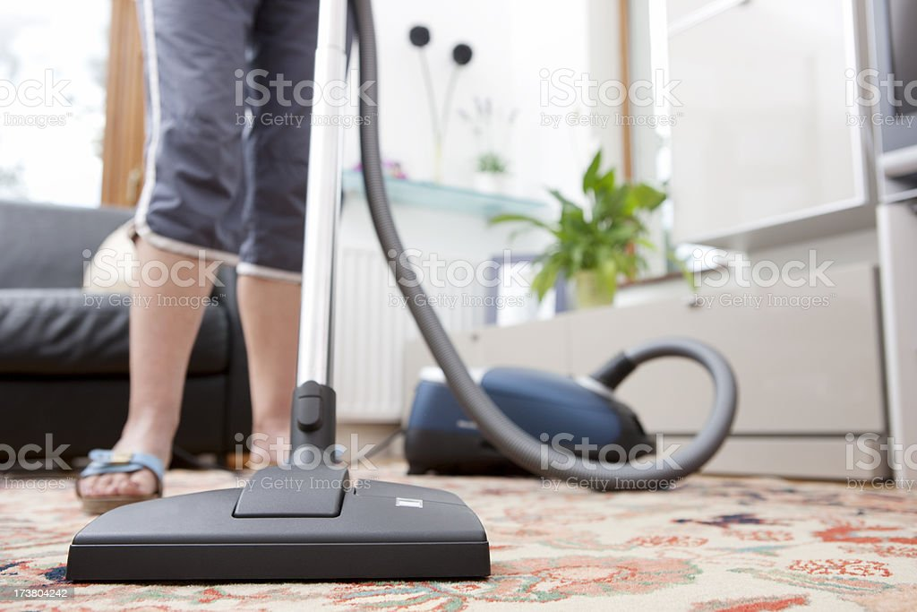 Vacuum cleaning stock photo