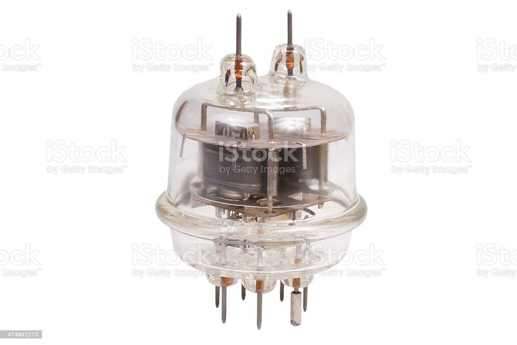 Vacuum electronic radio tube stock photo