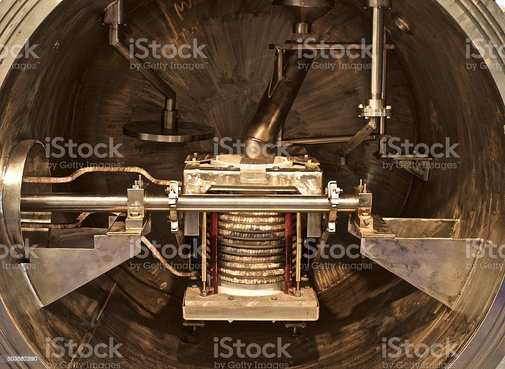 vacuum furnace for melting stock photo