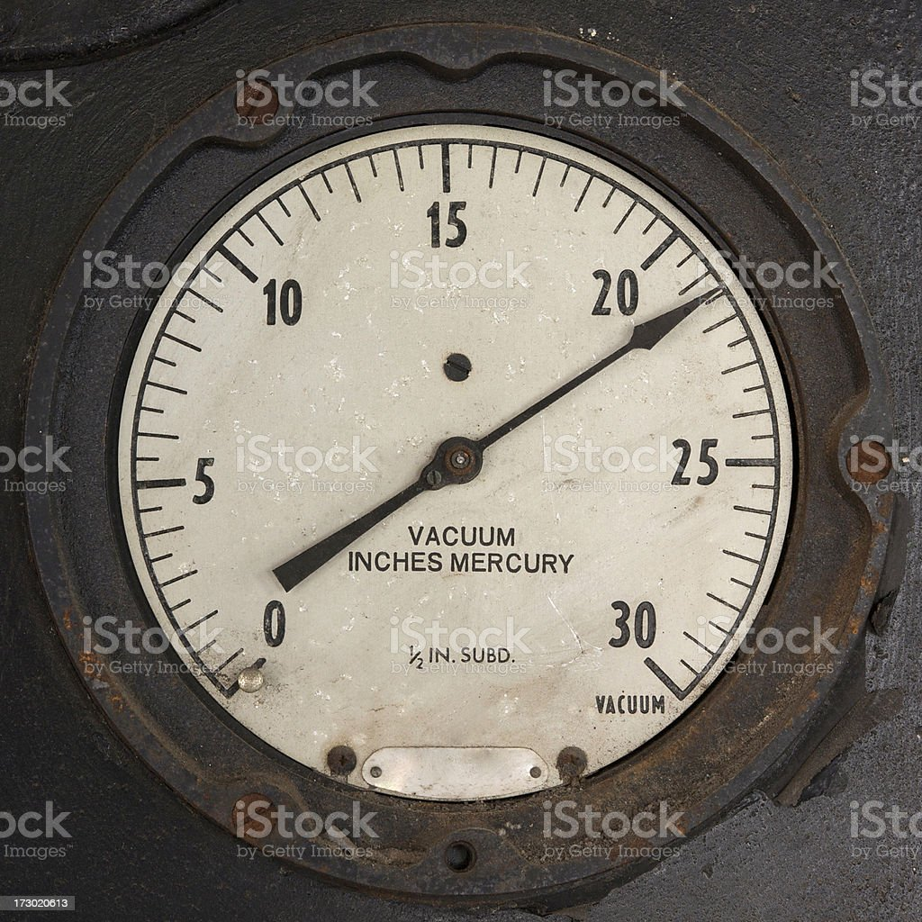 vacuum gauge royalty-free stock photo