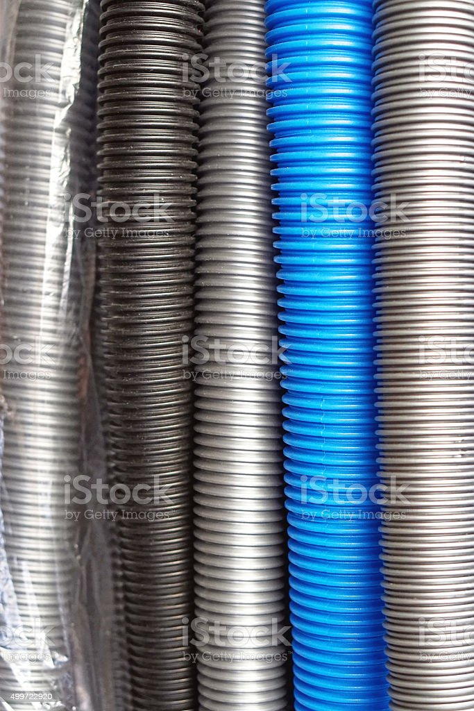 Vacuum hoses stock photo