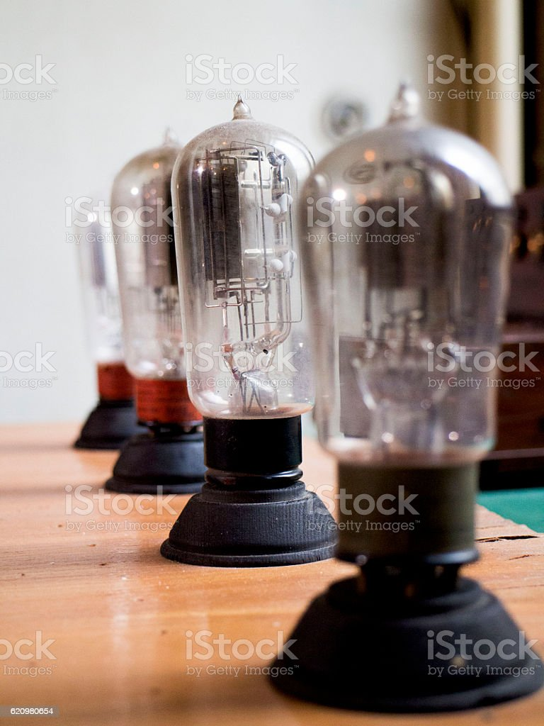 Vacuum lamps stock photo