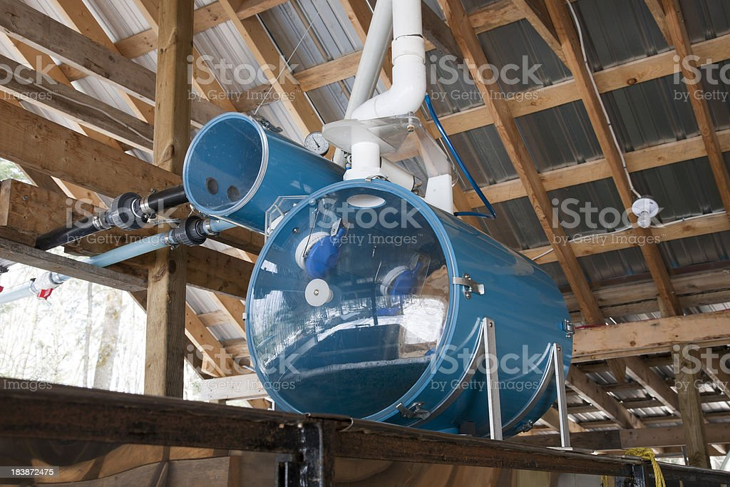 Vacuum Manifold for Maple Sap stock photo