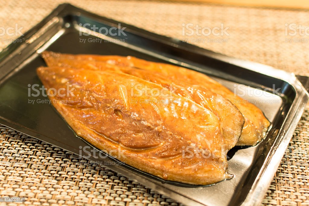 Vacuum Packed Fish stock photo