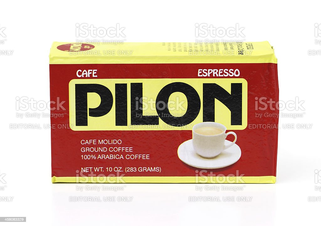 Vacuum packed pouch of Cafe Pilon Espresso Coffee royalty-free stock photo