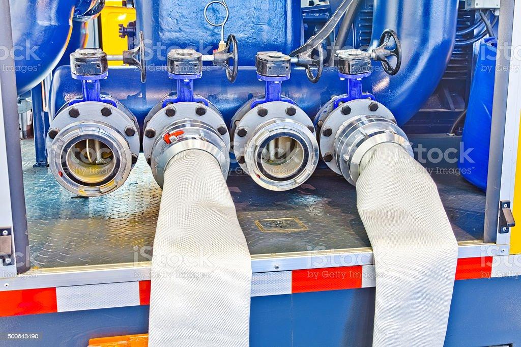 Vacuum prime assisted pump stock photo