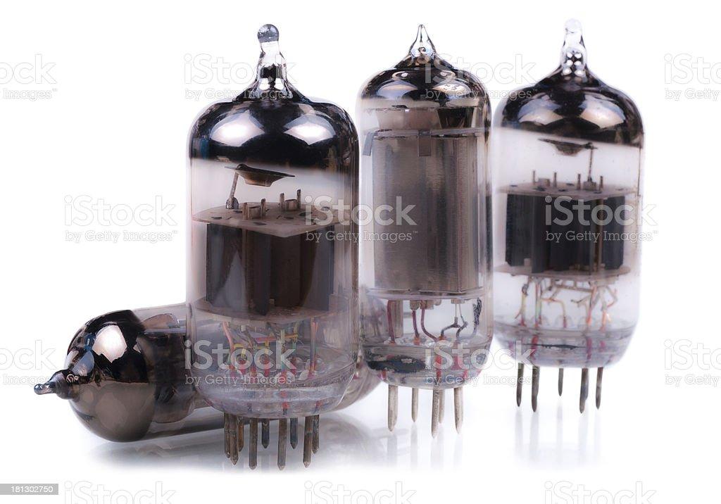 Vacuum radio lamps royalty-free stock photo