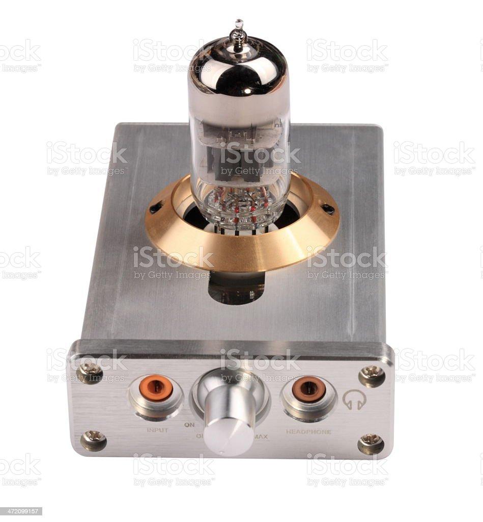 Vacuum Tube Amplifier Isolated stock photo
