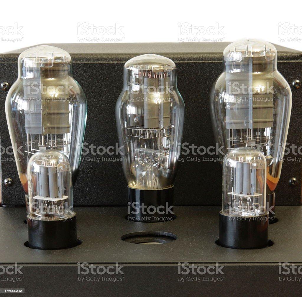 vacuum tube amplifier stock photo