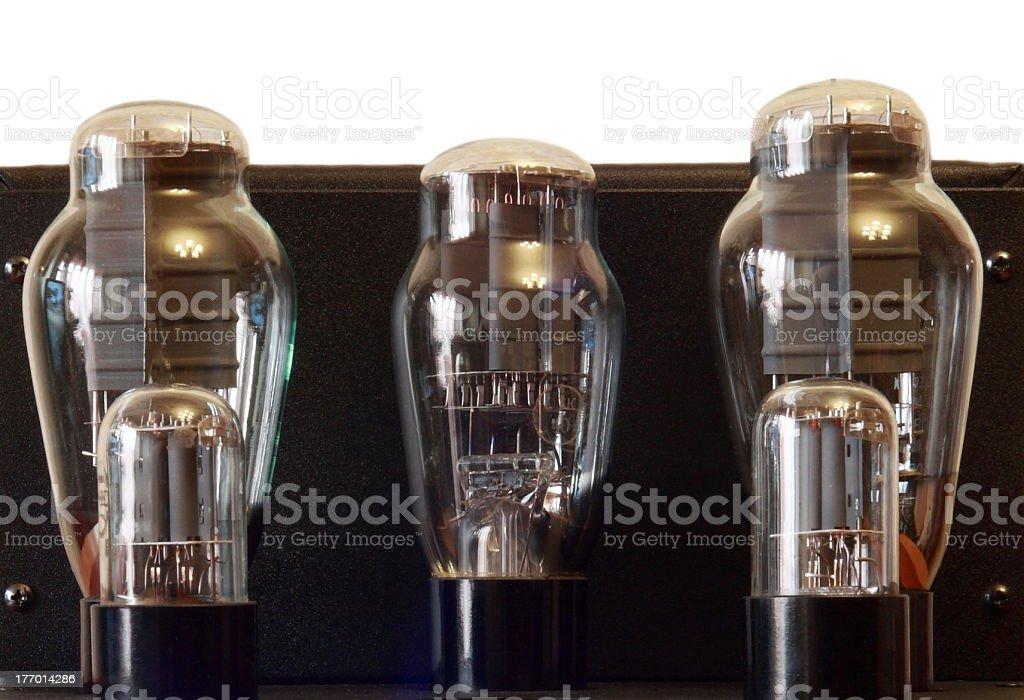 vacuum tube amplifier royalty-free stock photo
