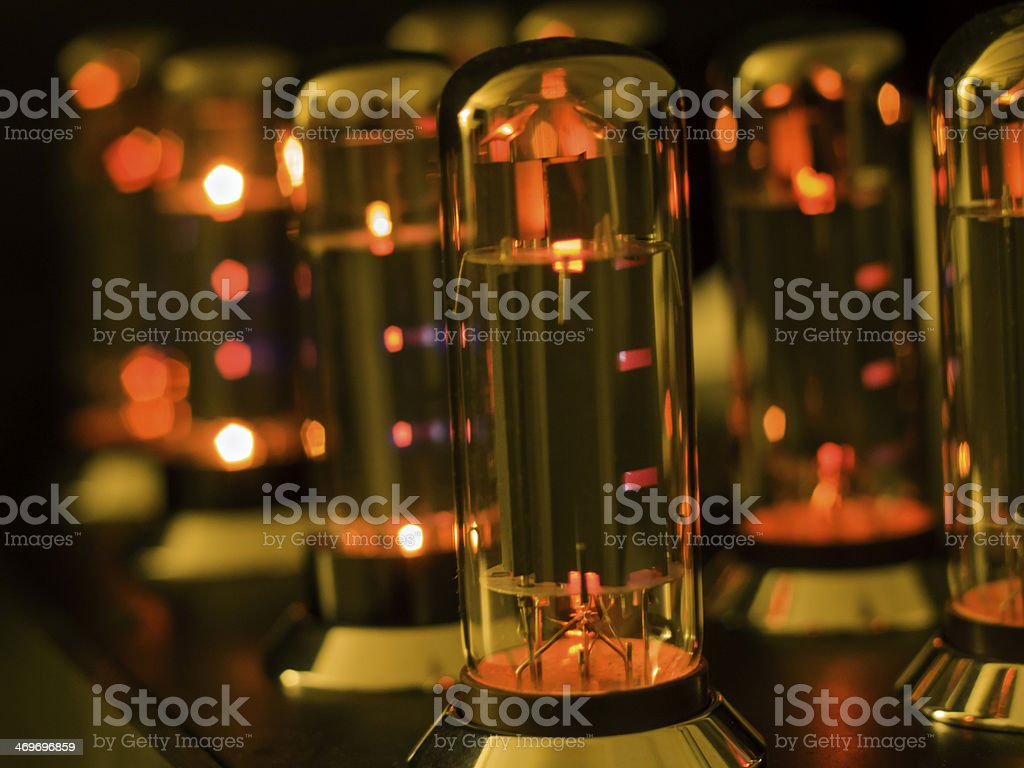 Vacuum Tube amplifier stock photo