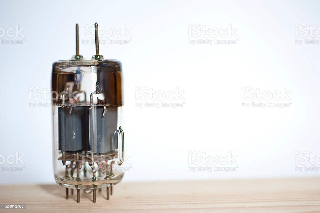 Vacuum tube stock photo