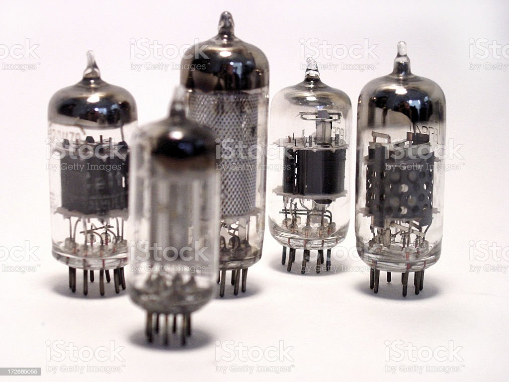 vacuum tubes royalty-free stock photo